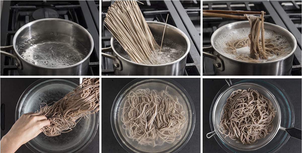 Zaru Soba chilled japanese buckwheat noodles