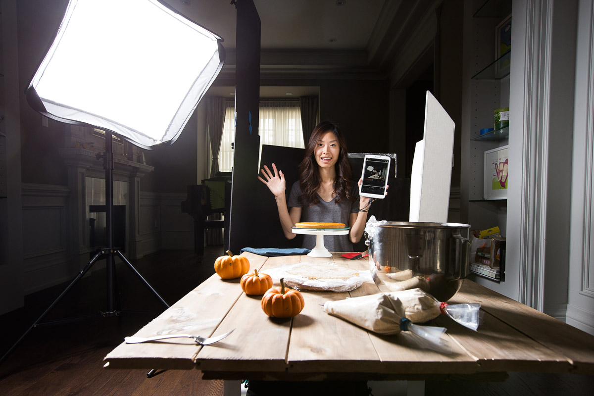 Food photography behind the scenes
