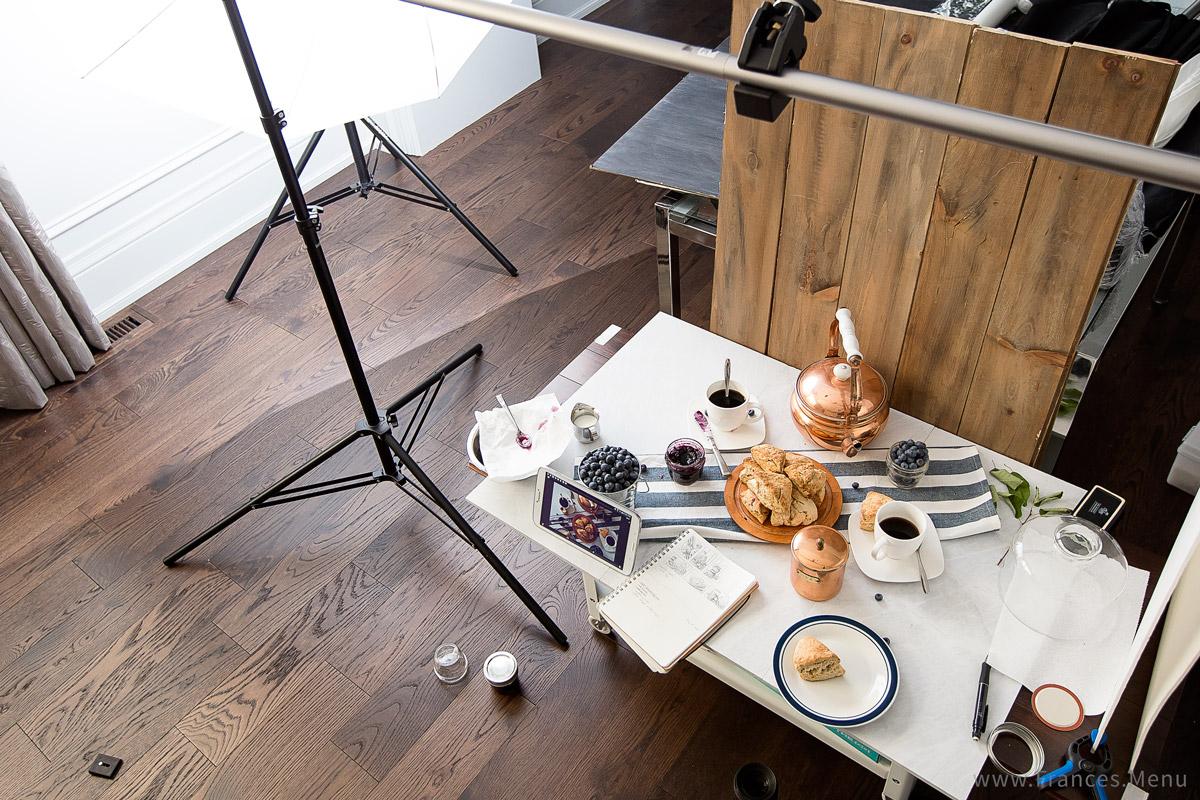 Food Photography - Basic Setup and Process. www.Frances.Menu