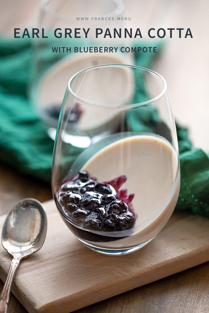 Earl Grey Panna Cotta with Blueberry Compote Recipe
