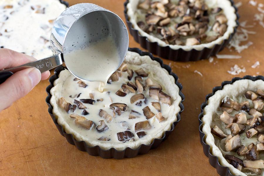 mushroom gruyere quiche recipe