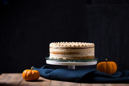 This recipe makes a gorgeous three-layer naked Pumpkin cake frosted with Graham Cracker Cream Cheese Buttercream. It is moist, fluffy and subtle in its sweetness. Excellent for thanksgiving and any fall occasion!